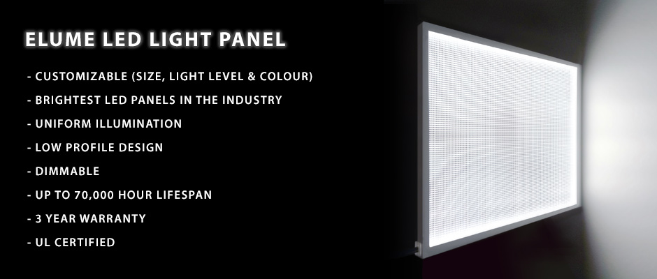 Elumination Led Light Panel Thin Backlighting Solution