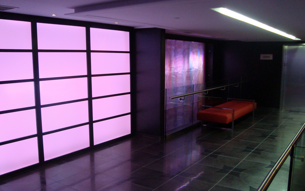 Elumanation projects hotel rgb led light panel wall feature aloadofball Choice Image