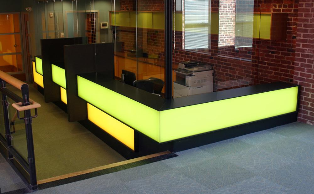 Backlit Led Light Panel Reception Desk