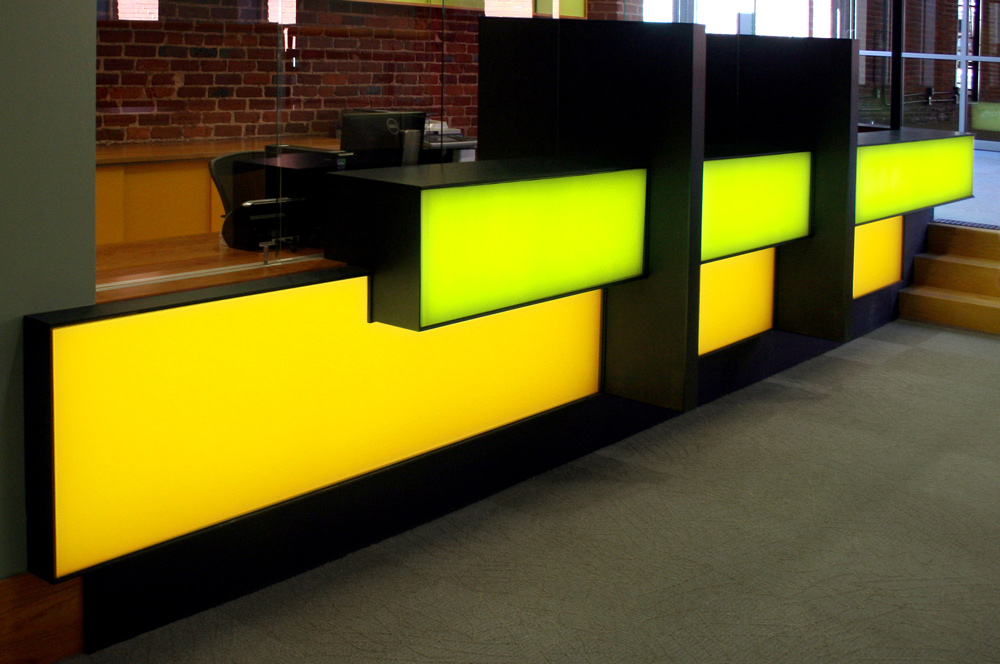 backlit led light panel reception desk acrylic lighted reception desk reception counter design